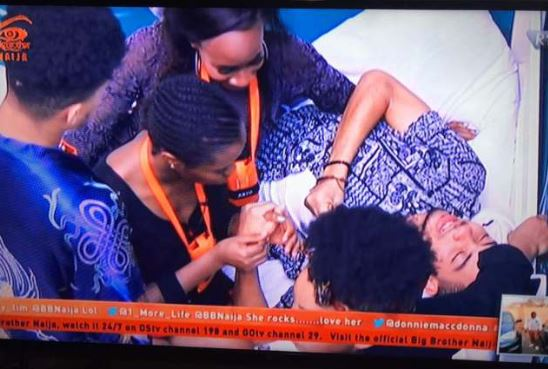 #BBNAIJA2018: K BRULE JUMPED OFF THE STAIRS AFTER ANTO REFUSED TO KISS HIM, THEN THIS HAPPENED