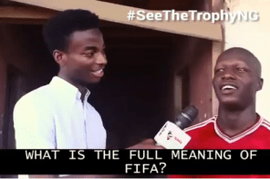 Check out this funny Vox Pop on the meaning of FIFA