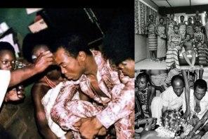 Throwback photos of Fela Anikulapo Kuti 40 years ago when he got married to 27 women in one day