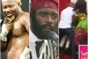 Ghanaian boxer beats up comedian on live TV for joking with his hairstyle