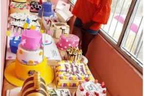 Actress Adediwura Adesegha gets more than 20 cakes to mark her 40th birthday
