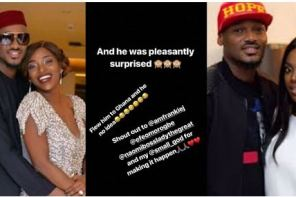 Annie Idibia Surprises Her Husband, 2face, With A Trip To Ghana For Their Wedding Anniversary