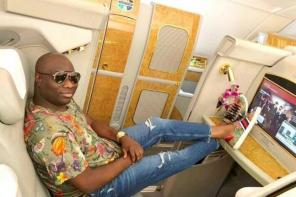 Photos: Mompha Flaunts His $14K First-class Private Suite As He Jets Into SA