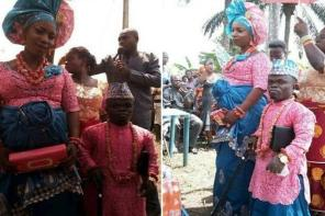 Beautiful Photos From The Traditional Wedding Of A Dwarf And His Tall Bride In Delta State