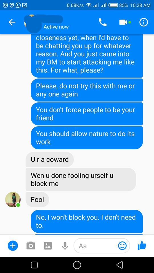Nigerian Guy Cries Out After Being Harassed By Young Lady On