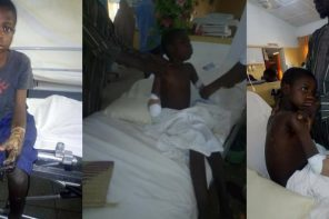 Young Boy Crippled After Being Beaten By His Teacher In Gombe (Graphic Photo)