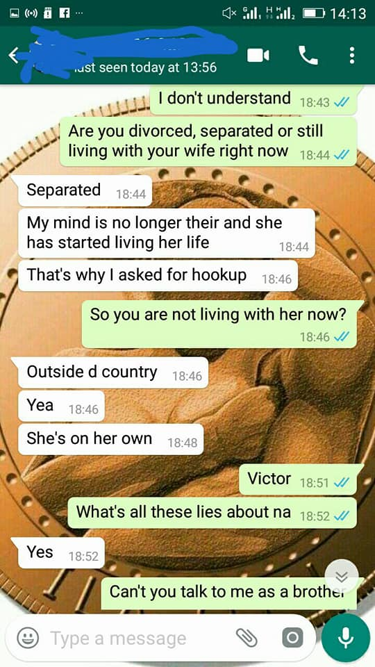 Hookup a separated man who lives with his wife
