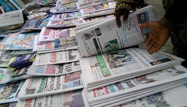 nigerian newspapers - Nigerian Newspaper Headlines Today: 27h April, 2019