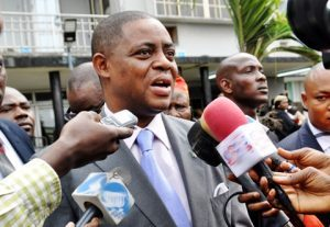 """i would put you in small monkey cage with big hot chimpanzee femi fani kayode to oshiomhole - Is civilisation fornicating with your teacher at 15??? Fani-Kayode blasts France president, Macron for """"insulting"""" Africa"""