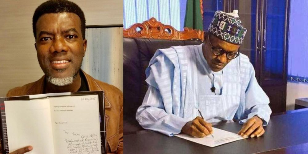 reno omokri challenges president buhari name 3 projects you initiated started completed - Court should sack Buhari for not presenting certificate – Reno Omokri