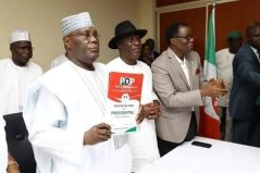 Image result for Atiku submits presidential nomination form