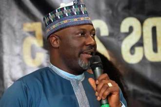Watch Video: Dino Melaye Performs At AY Live
