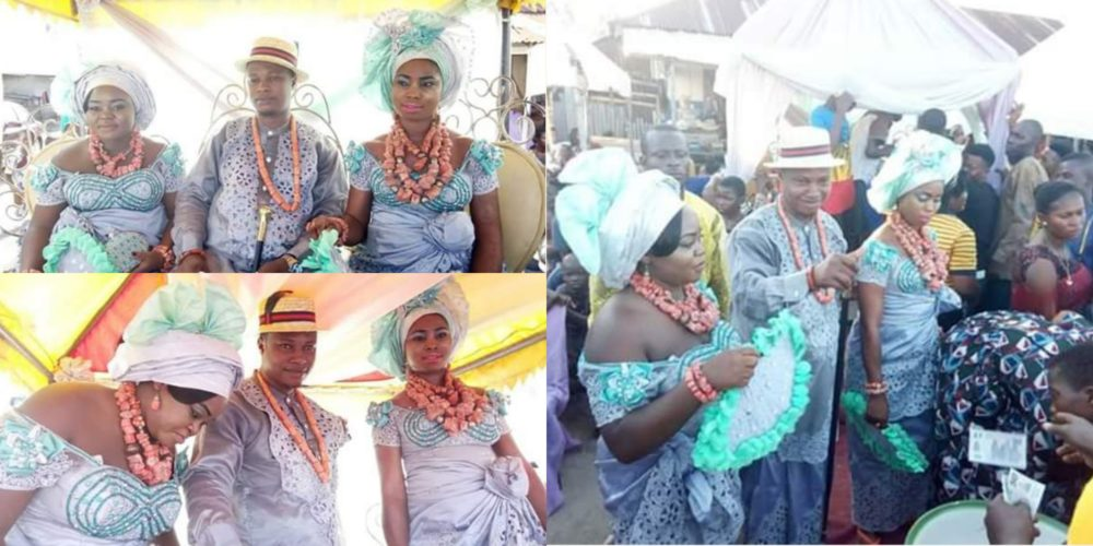 Viral wedding pictures of a Nigerian man who married two women on ...