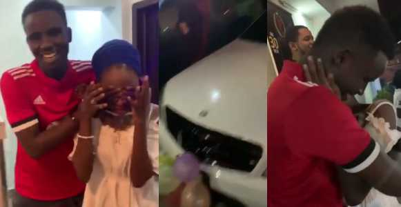 Nigerians React To The News Of 19 Year Old Boy Who Bought A Benz And Iphone XMax For His 16 Girlfriend As Birthday Gift