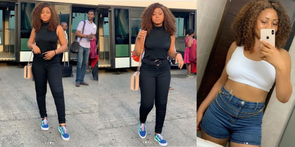 "omo am thick i know it regina daniels writes as she shares new beautiful photos on her ig page - ""It Doesn't Matter How Slow You Go, As Long As You Don't Stop"" – Regina Daniels Say As She Relaxes On A Jet Rocking A Military Fatigue"