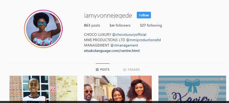 1 30 - Yvonne Jegede's marriage may be over, takes husband's name off her IG handle