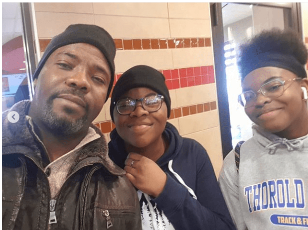 1 45 - Awwww! Comedian Okey Bakassi and his beautiful daughters pose for a selfie