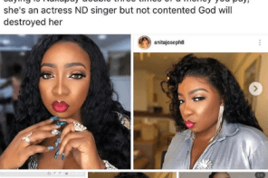 You are an idiotic vagabond – Anita Joseph drags scammer, warns fans about her