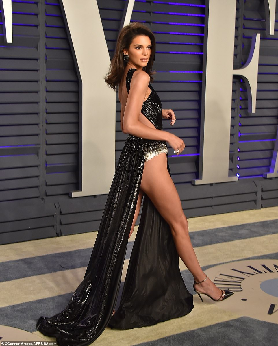 2 8 - Kendall Jenner commands attention as she steps out for the Vanity Fair Oscars party