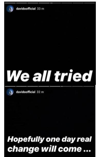 5c7513cfe6f65 - 'One Day Real Change Will Come' – Davido Reacts