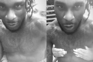 Photos: Stefflon Don captured fondling Burnaboy's nipples