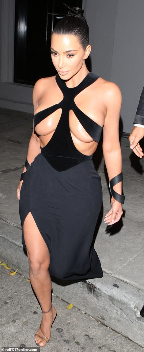 9948580 6715975 image a 8 1550478310418 - See the outrageously revealing dress Kim Kardashian was spotted in