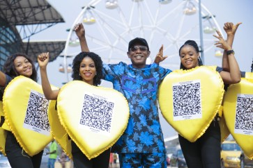 A1A0862 - Nkem Owoh, MTN, Samsung, celebrate Valentine's Day with a difference at Enugu mall in #MTNLoveBox campaign