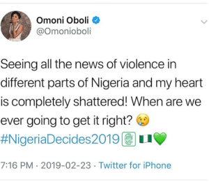 Capture 10 - Election no be war! – Omoni Oboli reacts to stories of violence across the country