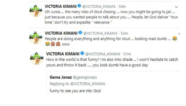Capture 5 - You look dumb – Victoria Kimani slams troll over her comment about Jussie Smollett