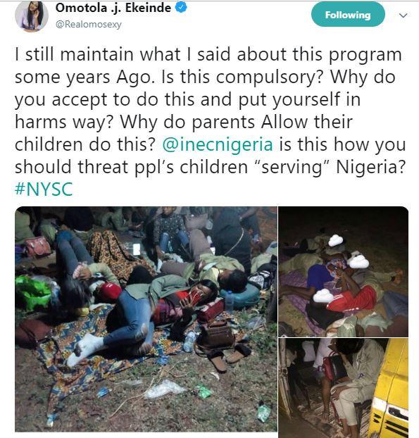 Omotolatweet - The way INEC is treating our kids is unfair – Omotola Jalade-Ekeinde