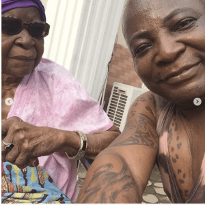 Screen Shot 2019 02 22 at 2.01.02 PM - Charly Boy shares beautiful new photos of himself with his 101-year-old mum