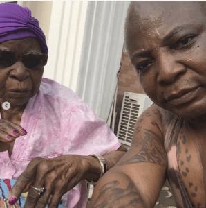 Screen Shot 2019 02 22 at 2.01.12 PM - Charly Boy shares beautiful new photos of himself with his 101-year-old mum