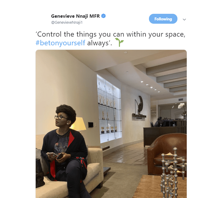 Screen Shot 2019 02 26 at 2.23.15 PM - 'Control the things you can within your space' – Genevieve Nnaji