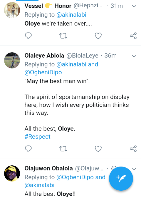 Screenshot 20190223 0903372 - #NigeriaDecides: 'Oloye 2.20 odds to Win' – See What Nigerians are Saying About Akin Alabi
