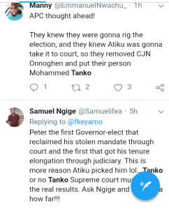 Screenshot 20190227 1140152 - 2019 Presidential Election: See What Nigerians Are Saying About Atiku's Rejection of Result