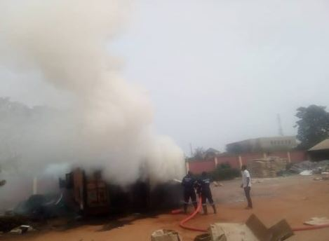 inec cont2 - JUST IN: Imo INEC Office Set Ablaze