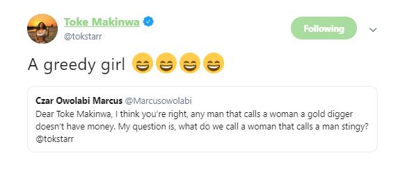 1 3 - You are greedy! – Toke Makinwa slams girls who call men stingy