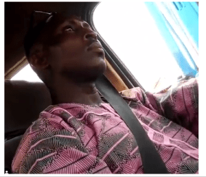 1 45 - Oh wow! Lagos bus driver caught on camera masturbating [Watch Video]