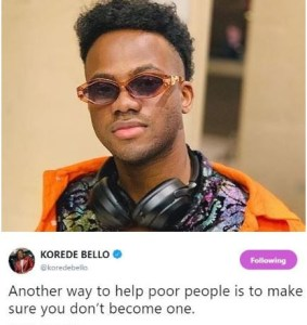 1 6 - You can help poor people this way – Korede Bello