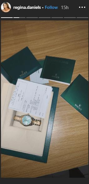 2 39 - [Photos]: Regina Daniels acquires N3.3million Rolex wristwatch