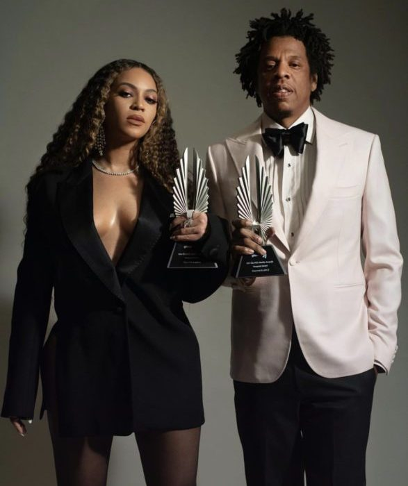 [Photos]: Jay Z and Beyonce pose with their GLAAD Award plaques