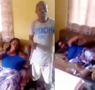 5c7a8978a487c - Disturbing! Woman savagely flogged by her brother for cheating on her husband (Video)