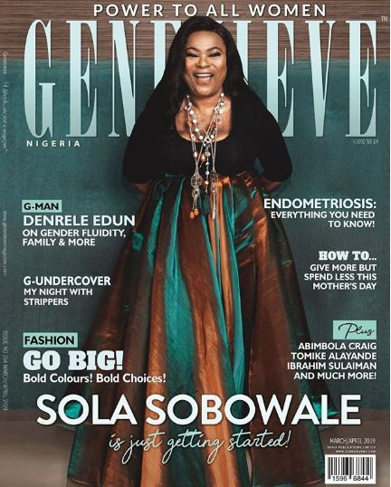 5c936848a2071 - Nollywood actress Sola Sobowale lands Genevieve Magazine cover
