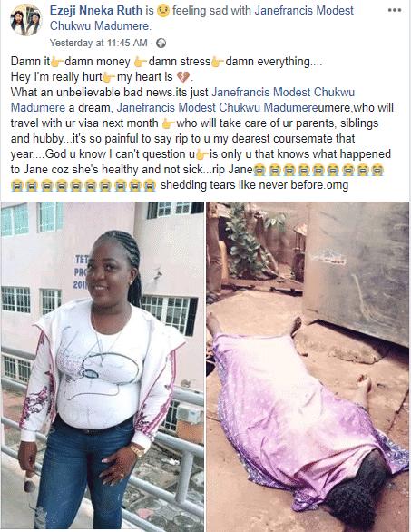 5c961e6565b58 - SAD! Beautiful Nigeria Lady Preparing To Travel Abroad Falls Into Soakaway Pit And Dies