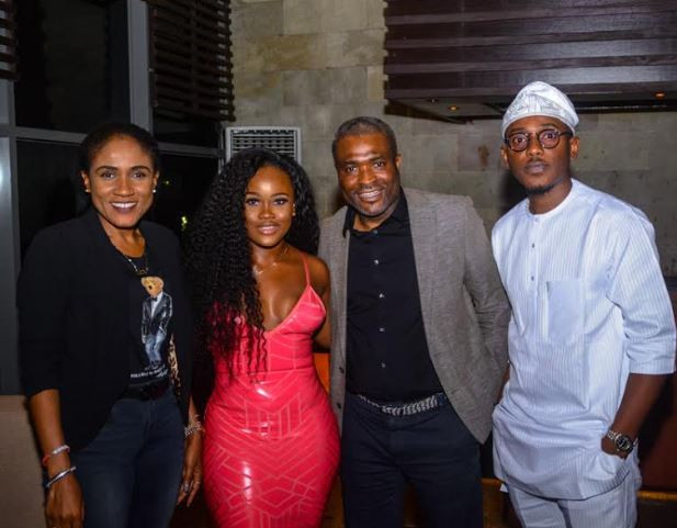 Tobi and cee-c at an event