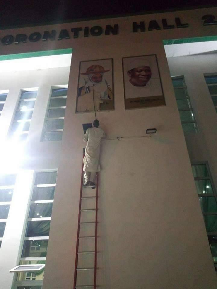 #KanoRerun: APC supporters destroy Emir's potrait in Government House [See pictures]