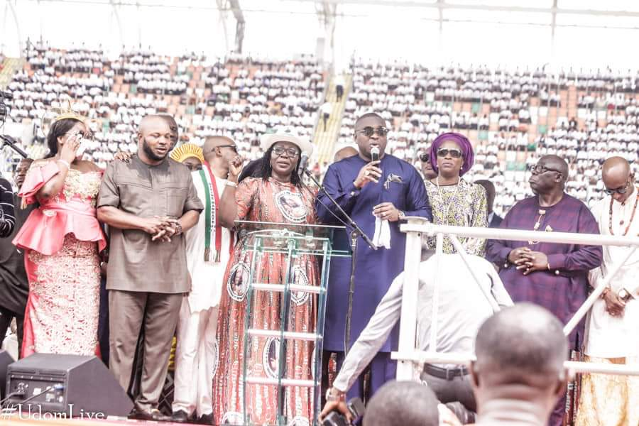 9082442 img20190329wa0058 jpeg8ac2e6c9bfc8d2b23eb2c58b139c73b2 - [Pictures] Oyedepo spotted at PDP thanksgiving rally in Uyo