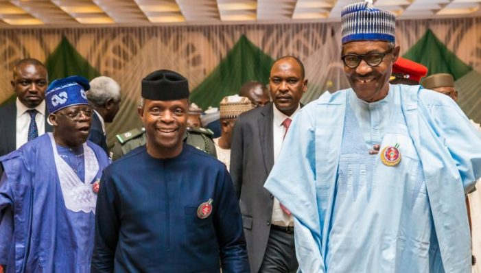 Buhari Osinbajo and Tinubu TNE e1550493353300 - What would have happened if I had died in the helicopter crash – Osinbajo