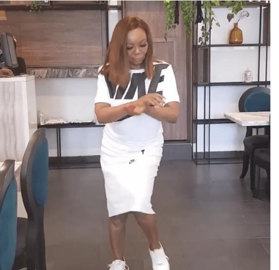 [Video]: Watch Betty Irabor dance 'Zanku' as she ushers in 62
