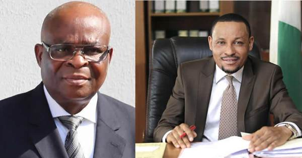 Justices Walter Onnoghen and Danladi Umar - Why I suspended Onnoghen – CCT Chairman
